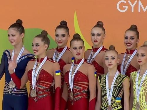 Сборная Украины похудожественной гимнастике завоевала сереброЧЕ