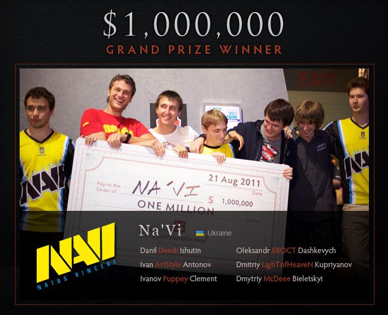 Чемпион первого The International - украинская команда Natus Vincere