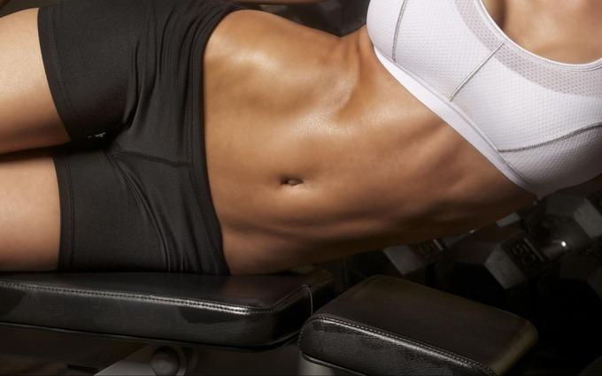 Проработка мышц живота для девушек