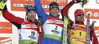 Сергей Седнев финиширует пятым в гонке преследования