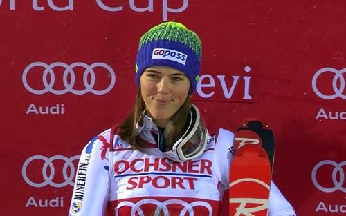 Влхова впервые в карьере победила в гиганте