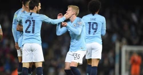 Зинченко впервые забил в составе Манчестер Сити