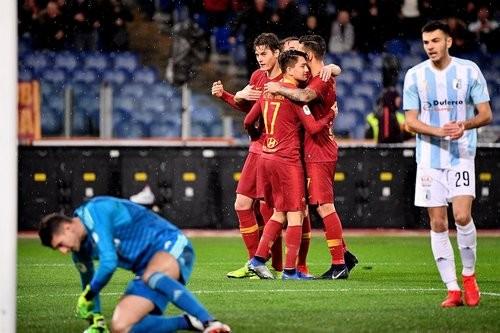 Рома разгромила Энтеллу и вышла в 1/4 финала Кубка Италии
