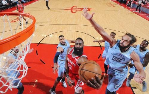 НБА. 57 очков Хардена принесли Хьюстону победу над Мемфисом
