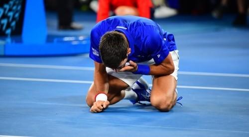 Реакция Джоковича на очередной титул Australian Open