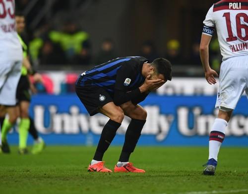 Интер дома минимально проиграл Болонье