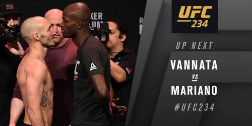 UFC 234. Ландо Ванната - Маркос Мариано. Видео боя
