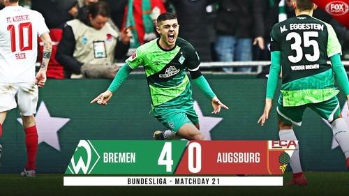 Вердер – Аугсбург – 4:0. Видео голов и обзор матча