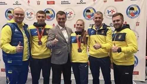 Українські каратисти здобули три медалі на чемпіонаті Європи