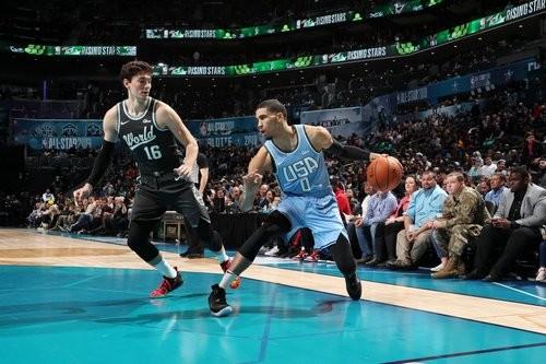 Сборная США победила Сборную Мира в Матче восходящих звезд НБА