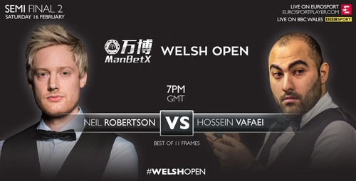 Снукер. Welsh Open. Нил Робертсон - Хуссейн Аюри. LIVE