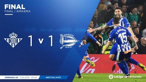 Бетис — Алавес - 1:1. Видео голов и обзор матча