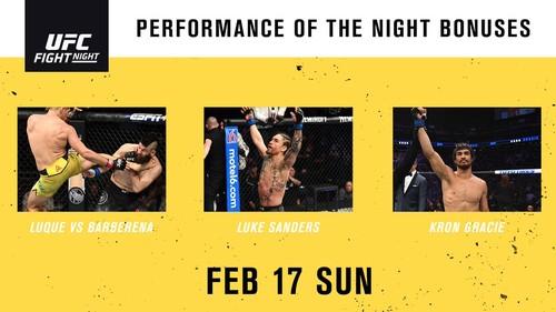 UFC on ESPN 1. Стали известны премии за лучшие бои