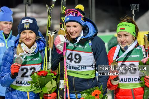 ЧЕ-2019 по биатлону. Журавок завоевала серебро, остальные без медалей