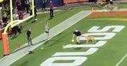 ВИДЕО. Пес поймал пас на 75 метров в матче по американскому футболу