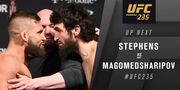 UFC 235. Забит Магомедшарипов - Джереми Стивенс. Видео боя