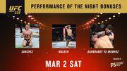 UFC 235. Муньос, Гарбрандт, Уокер и Санчес получили бонусы