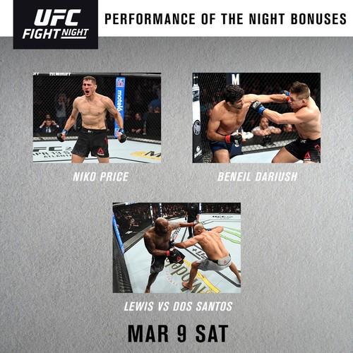 UFC Fight Night 146. Дос Сантос и Льюис получили бонусы за лучший бой