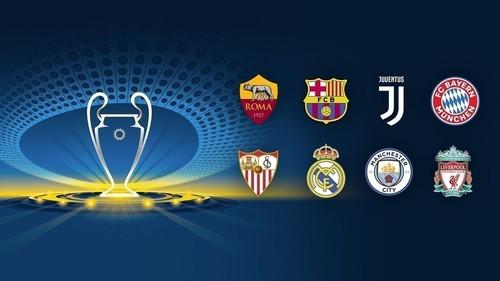 Опубликовано расписание четвертьфинальных матчей Лиги чемпионов