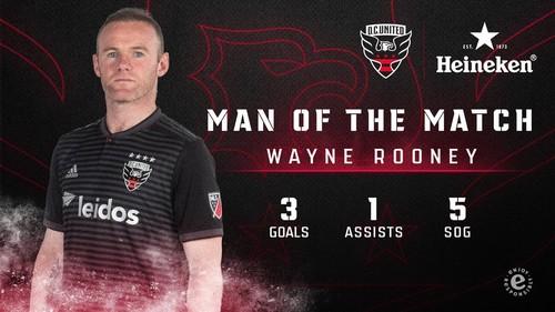 Руни отметился первым хет-триком в MLS