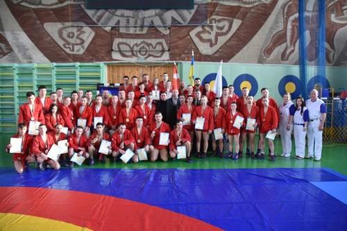 Луцк принял Кубок Украины по самбо