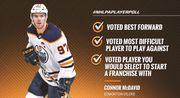 НХЛ. Игроки выбрали Макдэвида, а не Кросби лучшим форвардом Лиги
