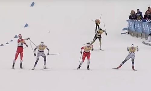 ВИДЕО. Российская лыжница жестоко палкой ударила шведскую соперницу