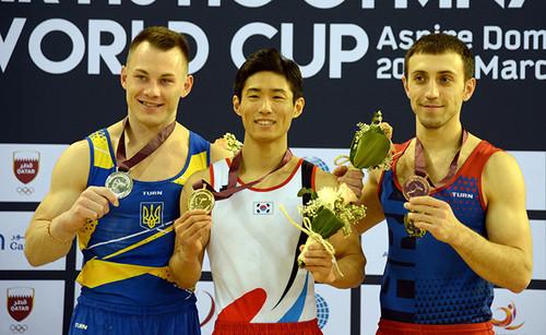 Игорь Радивилов стал серебряным призером на этапе Кубка мира в Дохе