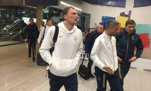 Сборная Украины прибыла в Люксембург
