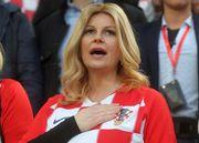 ФОТО ДНЯ. Президент Хорватии посмотрела матч на фанатской трибуне