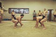 Подольски сразился с чемпионом мира по сумо
