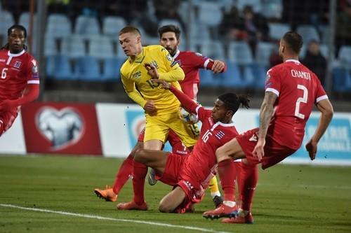 Сборная Украины вырвала победу у Люксембурга и возглавила группу В