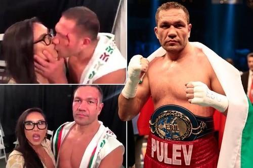ВИДЕО. Болгарский боксер Кубрат Пулев поцеловал журналистку в губы