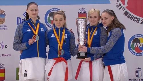 Украинки стали чемпионками Европы в командном кумитэ