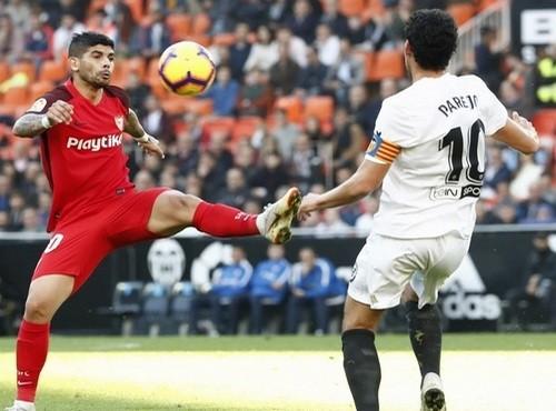 Где смотреть онлайн матч чемпионата Испании Севилья - Валенсия