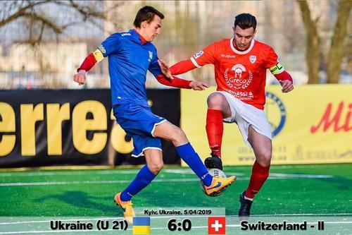 Украина U21 разгромила Швейцарию в товарищеском матче по мини-футболу