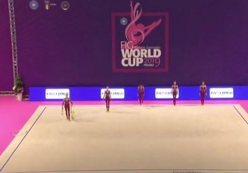 Украинские гимнастки выиграли серебро на этапе Кубка мира