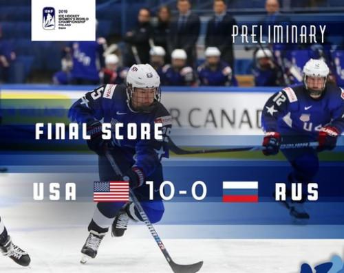 ВИДЕО. Cборная США разгромила Россию со счетом 10:0 на ЧМ