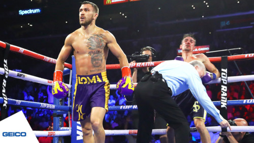Ломаченко нокаутировал Кроллу, защитив два пояса чемпиона мира