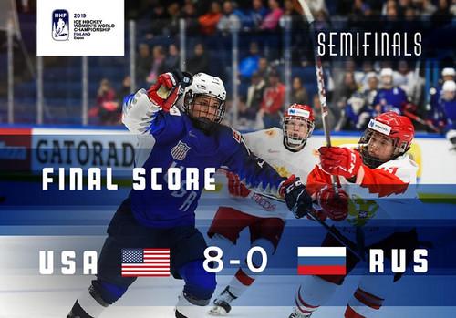 ВИДЕО. Сборная США разгромила Россию 8:0 и вышла в финал ЧМ