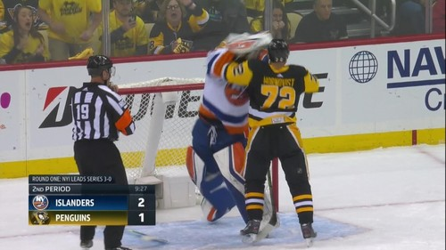 ВИДЕО. Драка в НХЛ. Вратарь накинулся на форварда