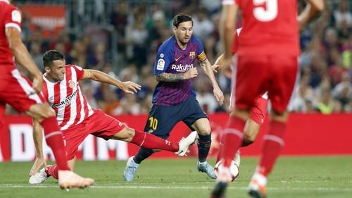 Барселона в меньшинстве не смогла обыграть Жирону