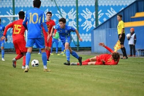 Сборная Украины U-16 уступила Бельгии