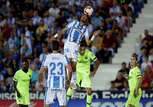 Леганес сенсационно нанес поражение Барселоне