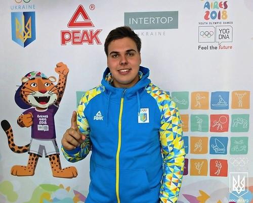 Михайло Кохан - прапороносець на церемонії відкриття Юнацьких ігор