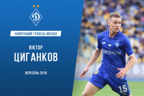 Цыганков – лучший игрок Динамо в сентябре