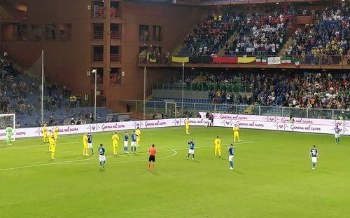Матч Италия-Украина остановили на 43-й минуте