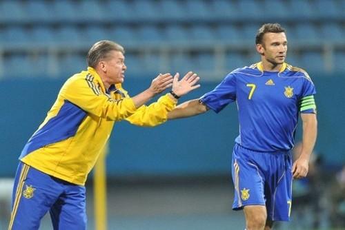 Шевченко поздравил Блохина с днем рождения