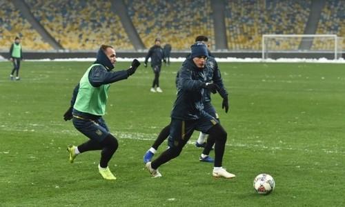 Ротань посетил тренировку сборной Украины