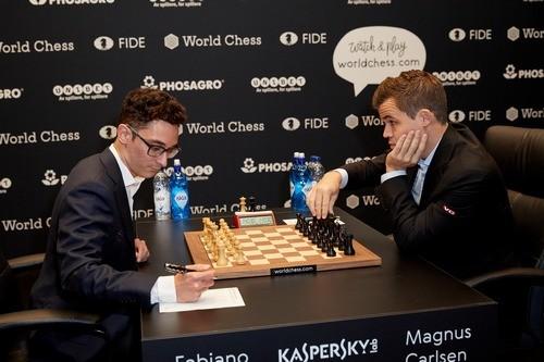 Карлсен и Каруана в 10-й раз подряд сыграли вничью